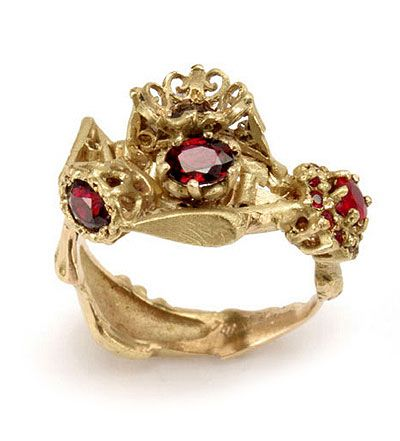 """Julia deVille, Ring, - """"I'm constantly in awe of jewellery's capacity to carry meaning beyond our own lives. For example, my mother is going to be turned into a diamond when she dies and I will make her into a ring for myself. Thus her life, in some form, continues…"""""""