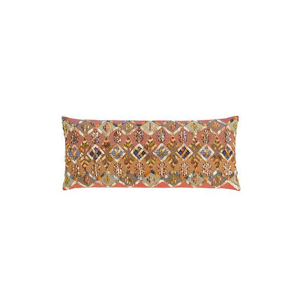Kenya Embroidered Decorative Lumbar Pillow 300 Liked On Polyvore Featuring Home