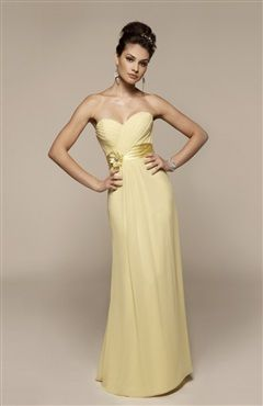 Pastel Yellow Cross Ruching Sweetheart Floor Length Bridesmaid Dress Style Code 14134 191 Order Here