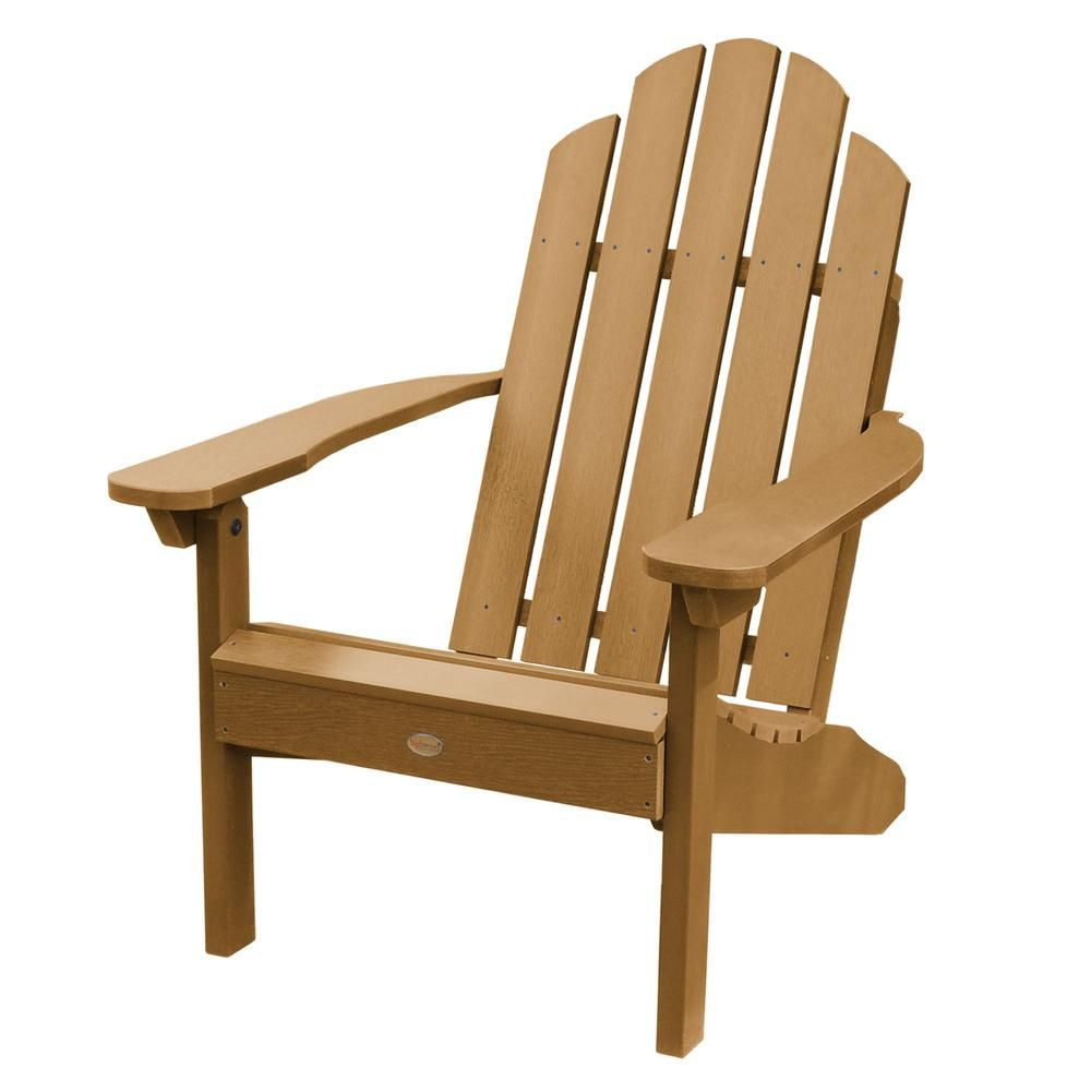 Highwood Classic Wesport Toffee Recycled Plastic Adirondack Chair
