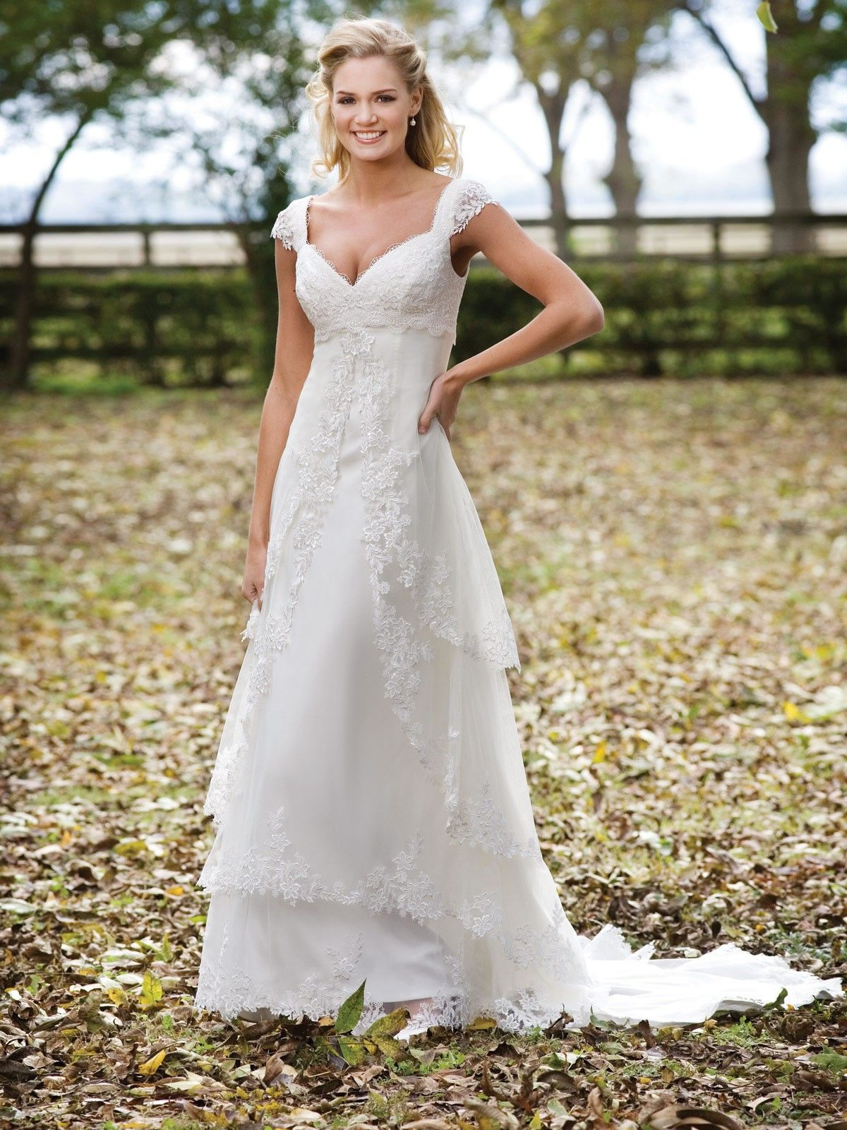 Tulle Sweetheart Venise Lace Adorns Bodice A-line Wedding Dress ...