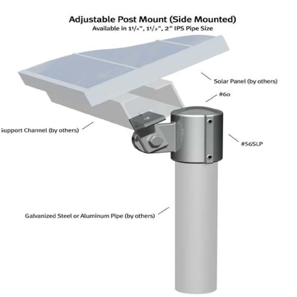 Solar Side Mount Aluminum Magnesium 1 1 4 Ips Solar Side Mount Aluminum Magnesium 1 1 2 Ips Solar Side Mount Aluminum Magnesium 2 Ip Solar Galvanized Steel