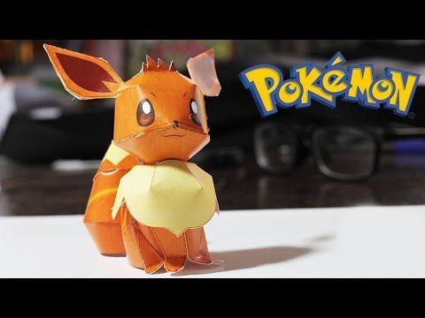 Amazing Papercraft - Pokemon Eevee - Time lapse