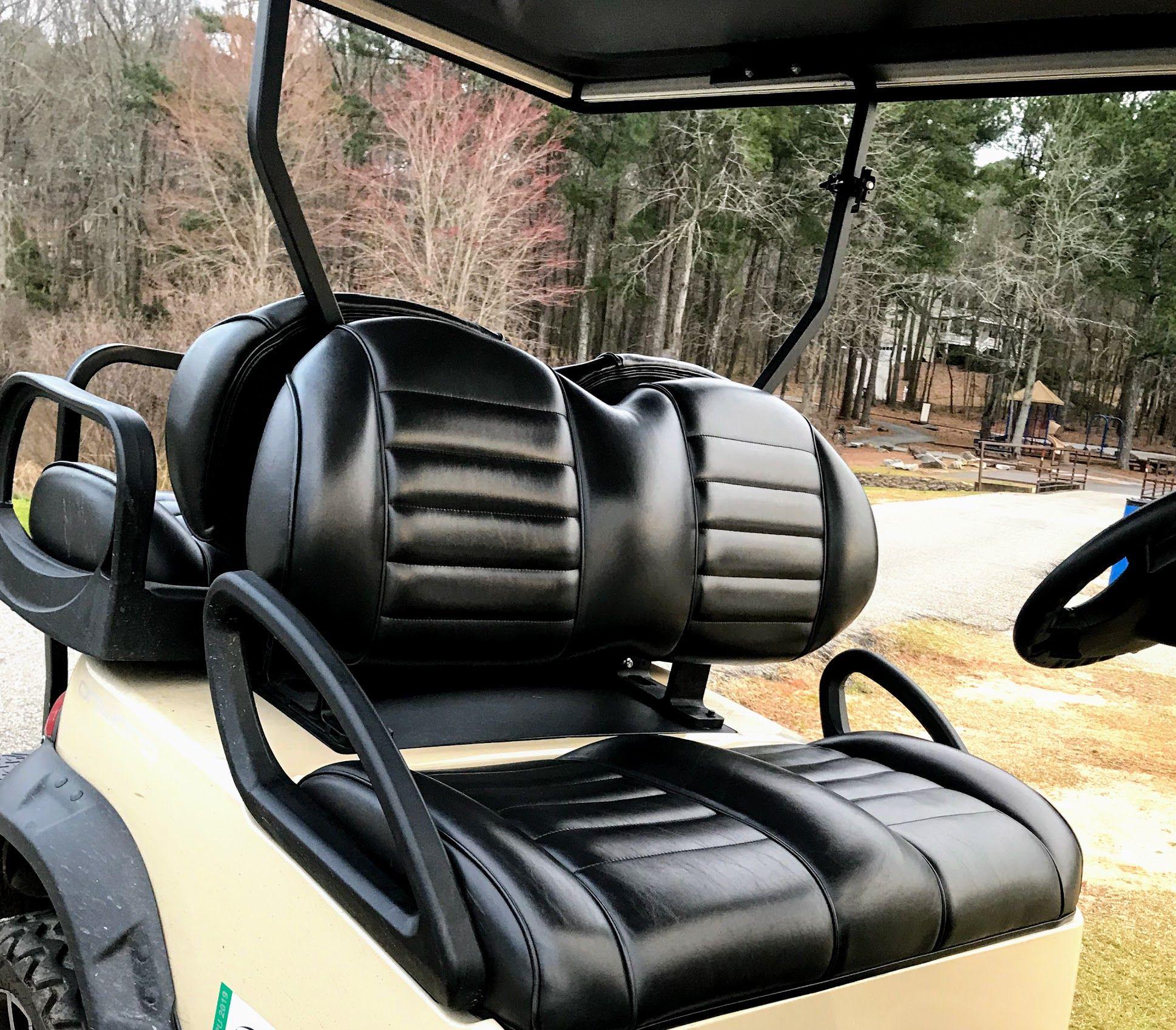 Golf Cart Seats Comfort Covers And Custom Designs Custom Car Seat Covers Custom Golf Carts Golf Cart Seats