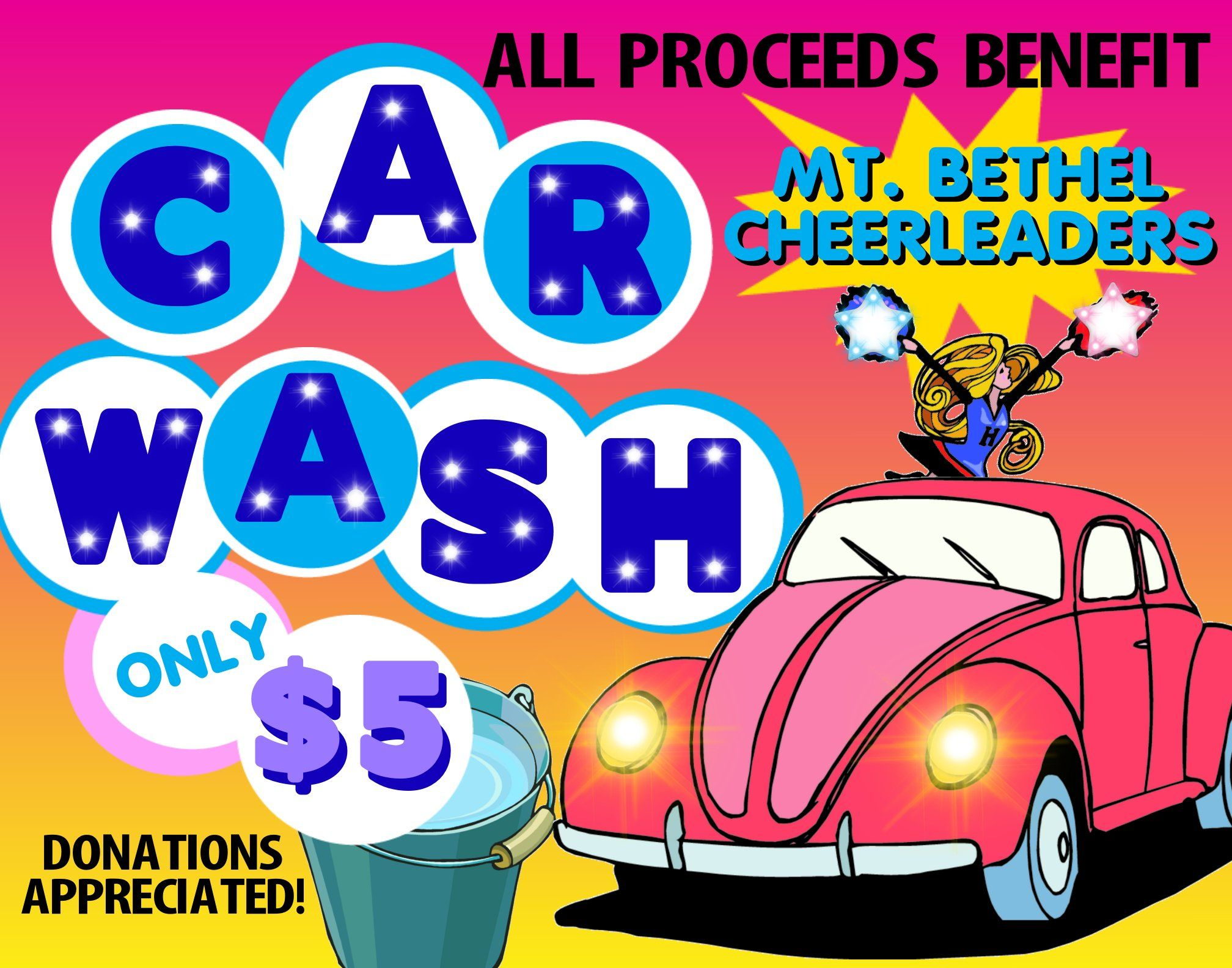 Cheerleading Car Wash Posters