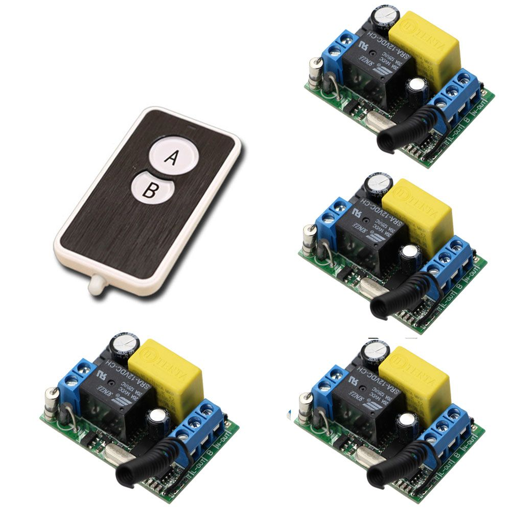 New Product Ac220v 10a 1ch Rf Wireless Remote Control Switch System Component Circuit What Do I Need 220v Relays 4pcs Receivers