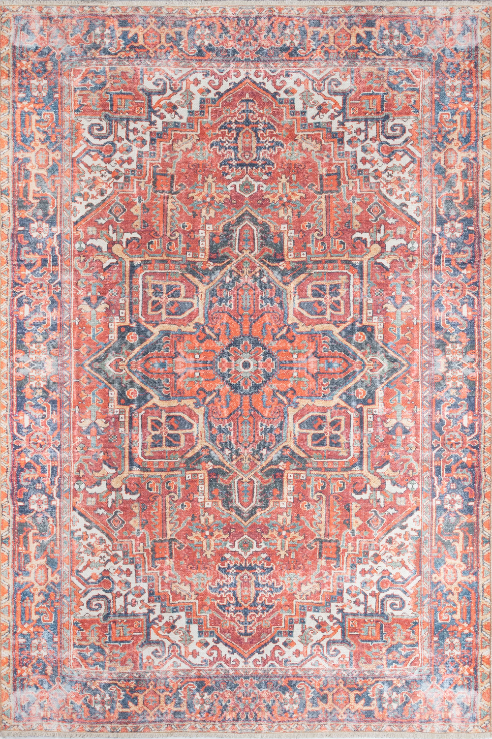 Losoto Oriental Red Blue Area Rug Colorful Rugs Red Rugs Boho Rug