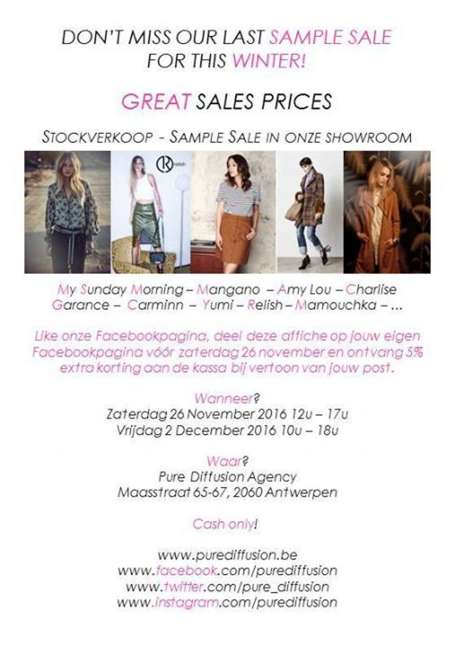 Great Prices Stockverkoop Sample Sale Antwerpen
