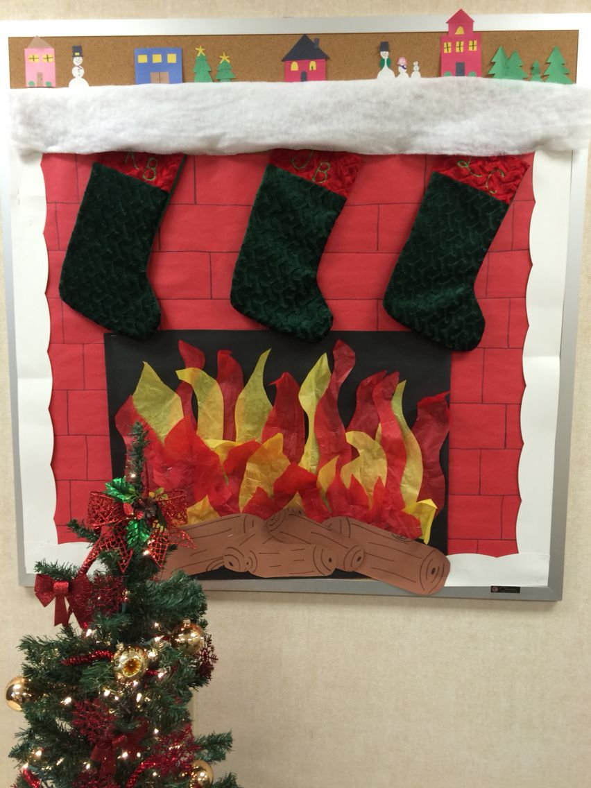 Fire place in the interpreter office to hang the sticking