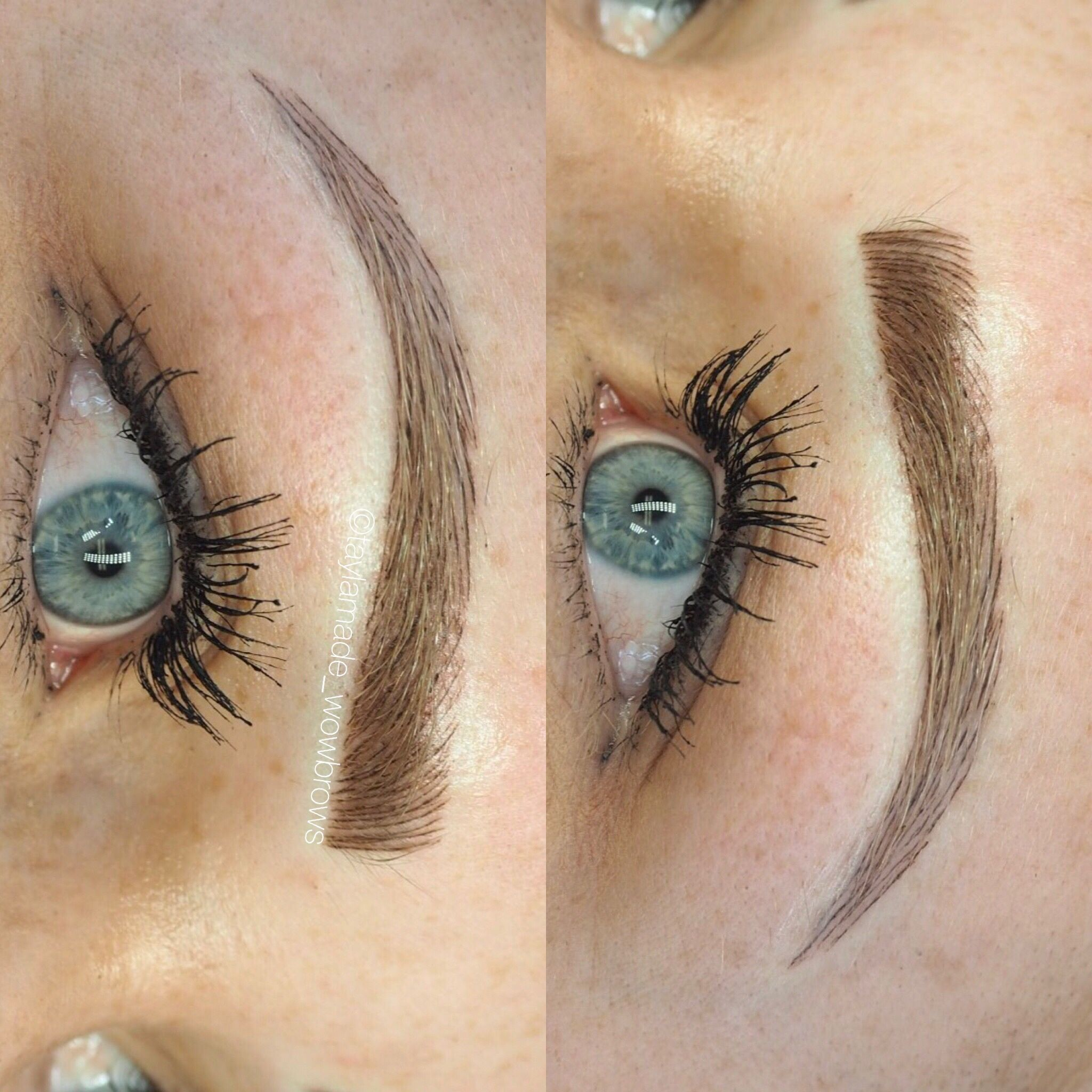 Hair Stroke Feather Touch Tattooed Eyebrows Cosmetic Tattoo
