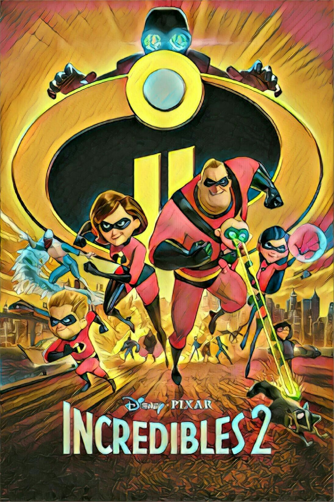 The Incredibles 2 Movie Poster Cartoon Versions Of Movie Posters Movieposters Movies Cartoon Scifi Mo Alternative Movie Posters Movie Posters Disney Movies