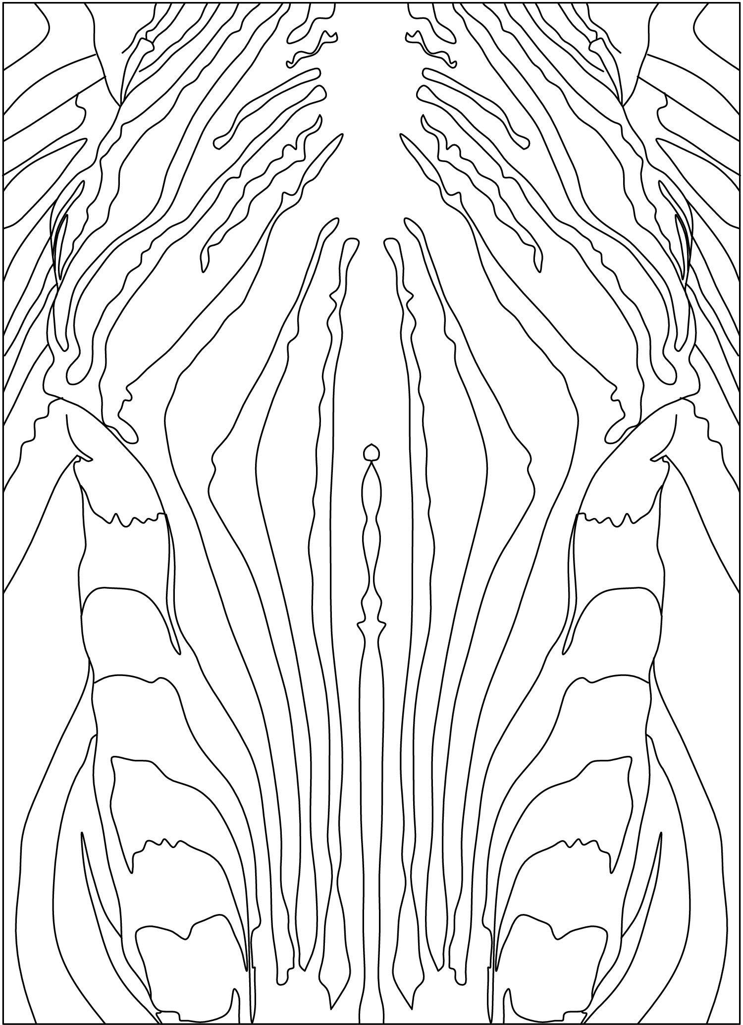 Autocad Drawing Of A Custom Zebra Rug Took Me Forever