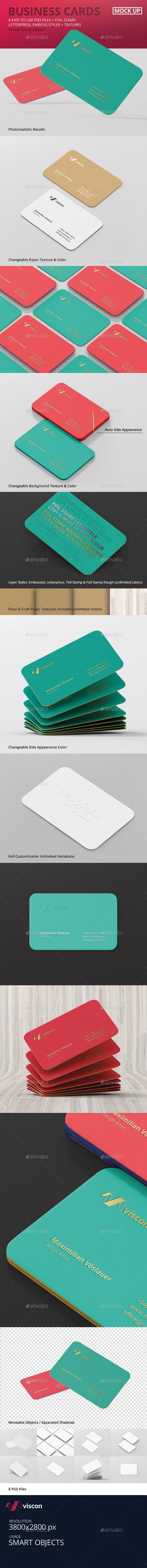 Business card mockup round corners pinterest mockup business business cards mock ups round corners business cards print reheart Gallery
