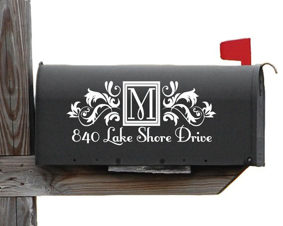 Victorian Personalized Vinyl Mailbox Decal Vinyls Victorian And - Custom vinyl decals for mailbox