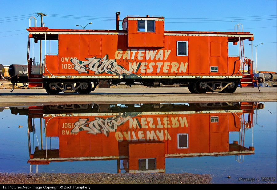 RailPictures.Net Photo: GWWR 10201 Gateway Western Railway Caboose at Kansas City, Missouri by Zach Pumphery