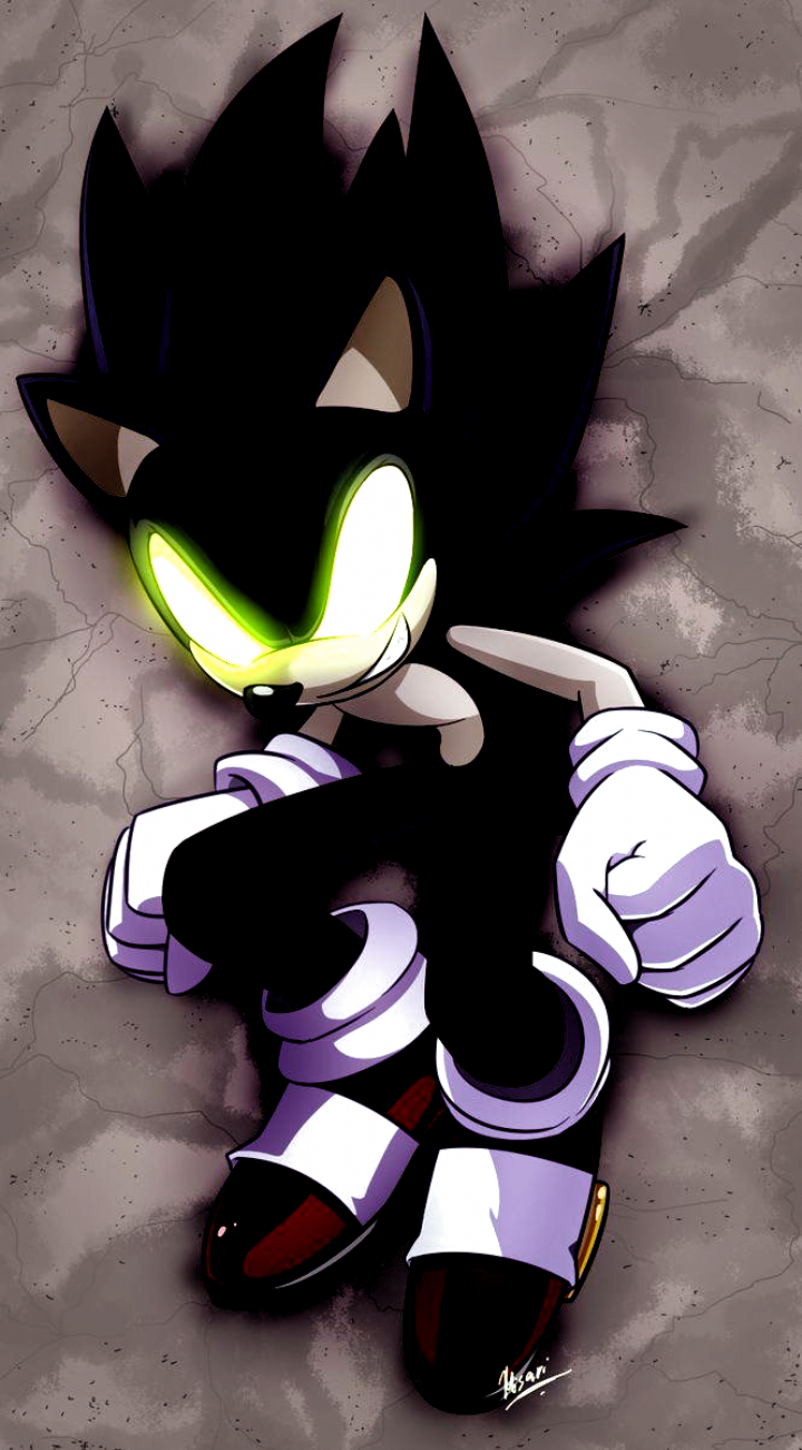 Dark Sonic Colored By Myly14 On Deviantart Evil Wallpapers Evil Wallpaper Sonic