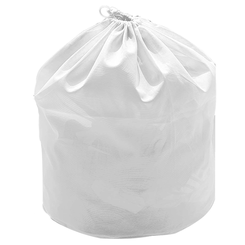 Polyester Big Mesh Drawstring Laundry Basket Washing Bag Clothes
