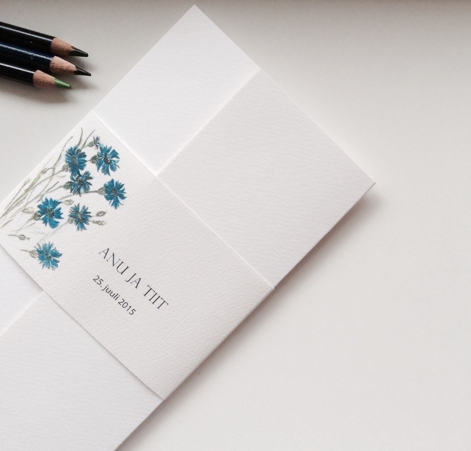 Cornflower blue, wedding invitation | Rustic wedding | Pinterest ...