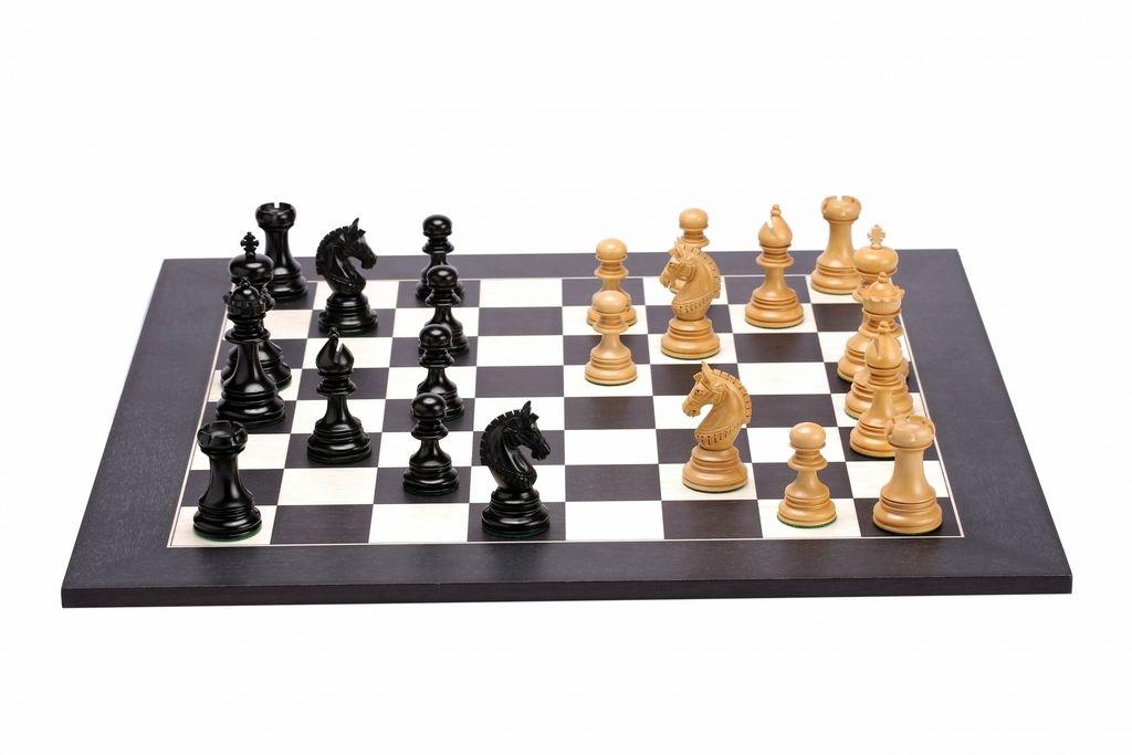 The Indian Chetak II Customized Staunton Chess Set in Ebony
