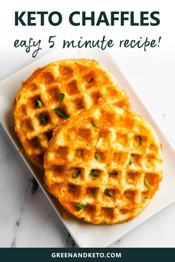 Easy Keto Chaffles Recipe (Cheddar Waffles!)