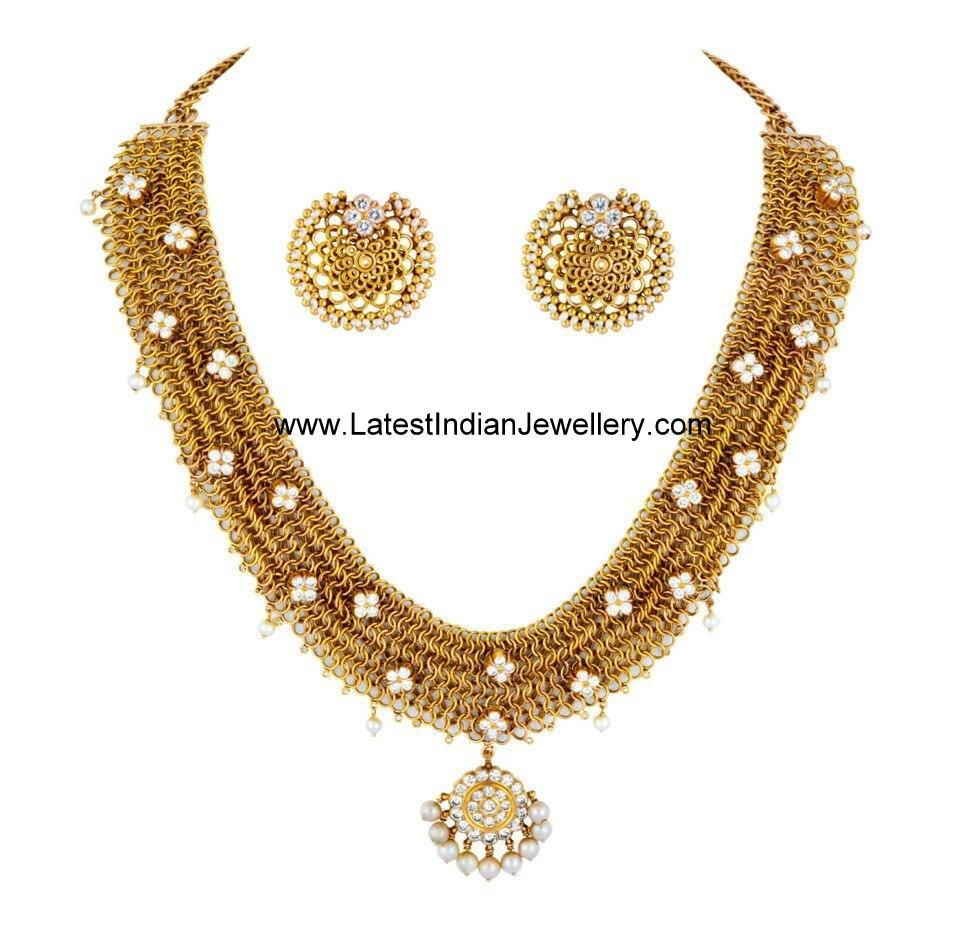 Gold · Designer South Indian Diamond Necklace  Latest Indian Jewellery  Designs