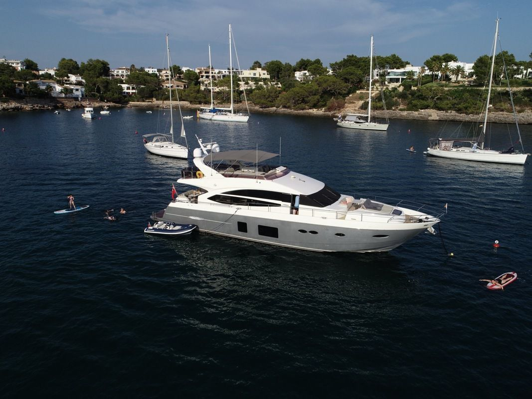 Our princessyachts 72 charter boat is busy again in and