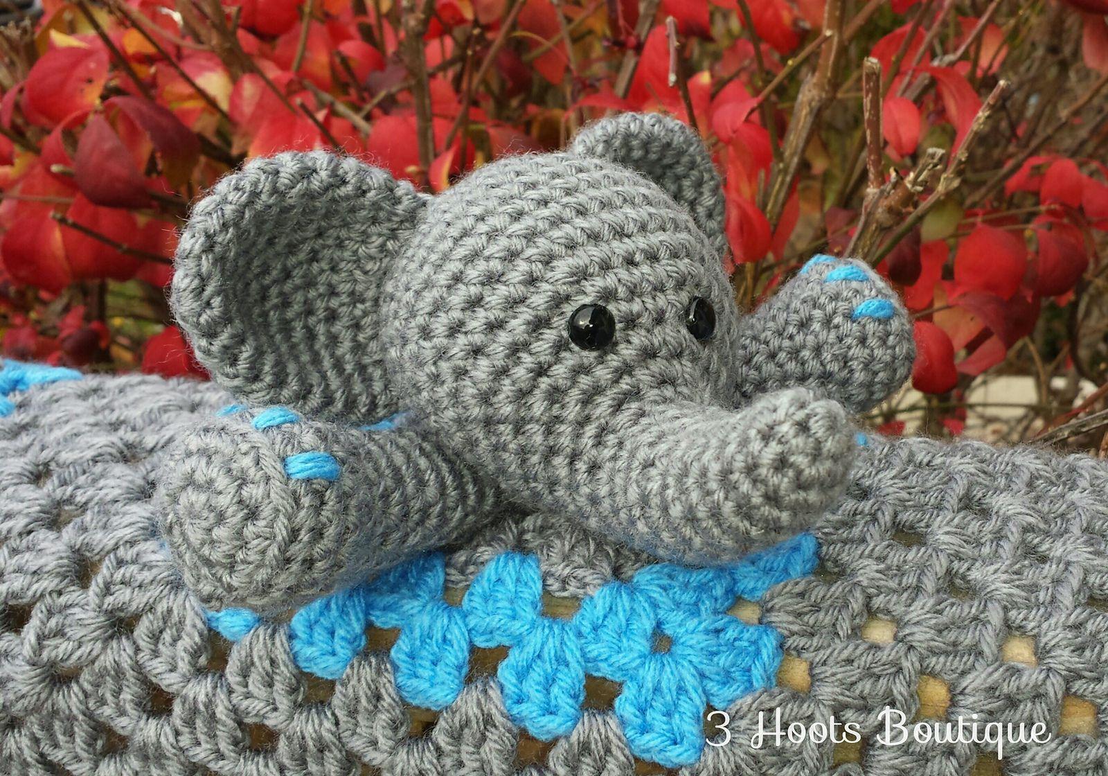 Ravelry: Elephant Lovey by Carolina Guzman   Crochet   Pinterest ...