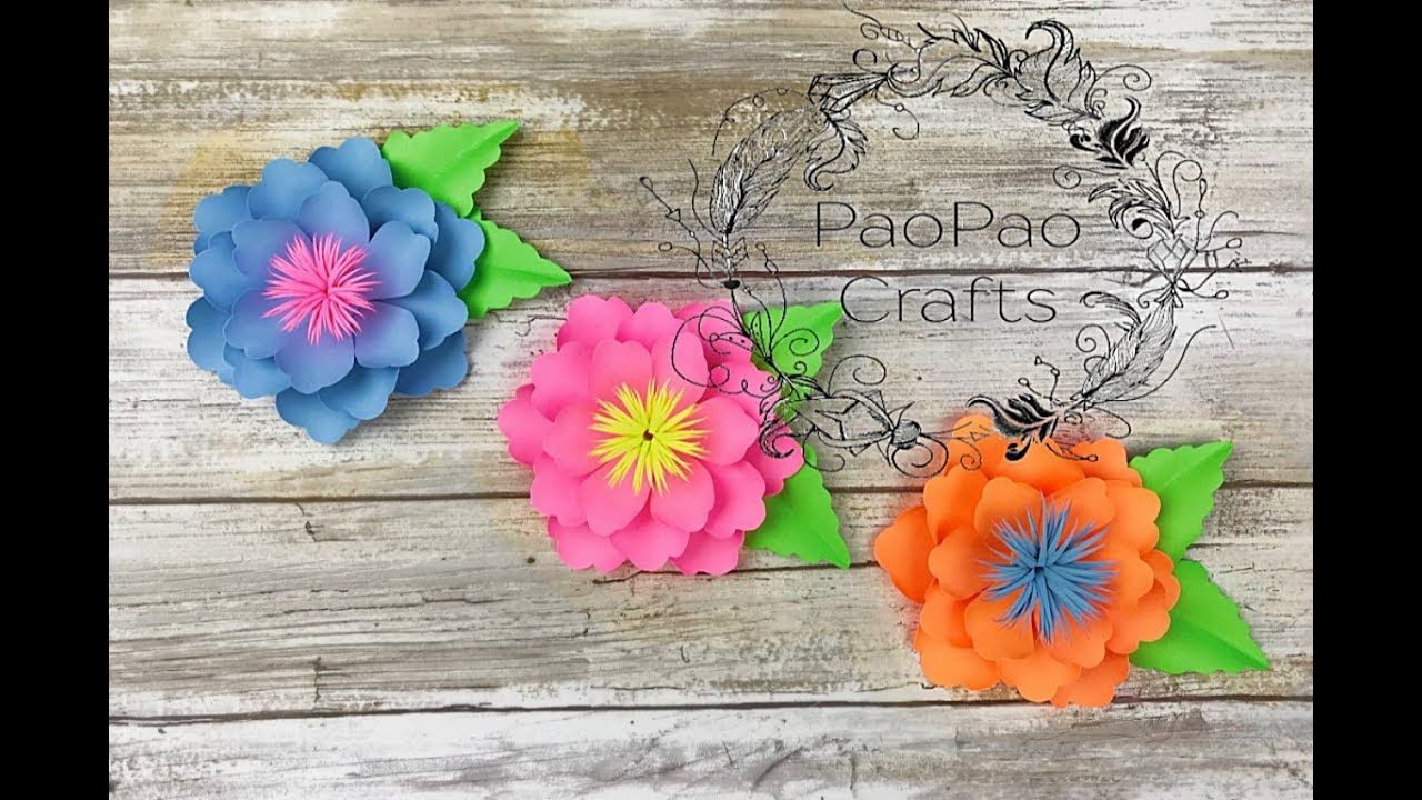 Moldes Gratis Mini Flores De Papel Free Templates How To