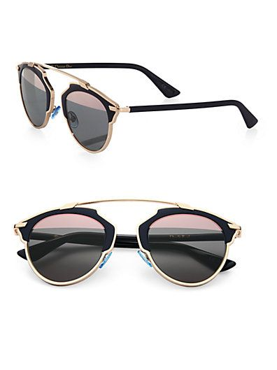 9f745e9e6 Dior - So Real 48MM Pantos | Women's Sunglasses | Gold sunglasses ...