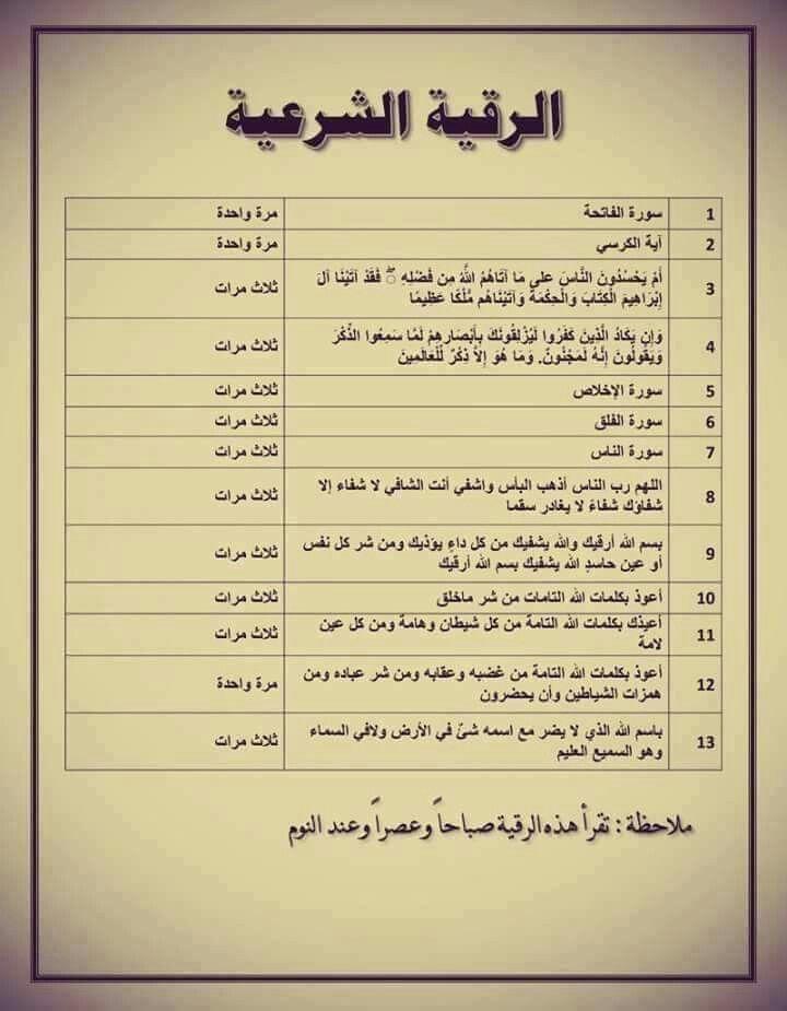 الرقية الشرعية Islam Beliefs Islam Facts Islamic Phrases