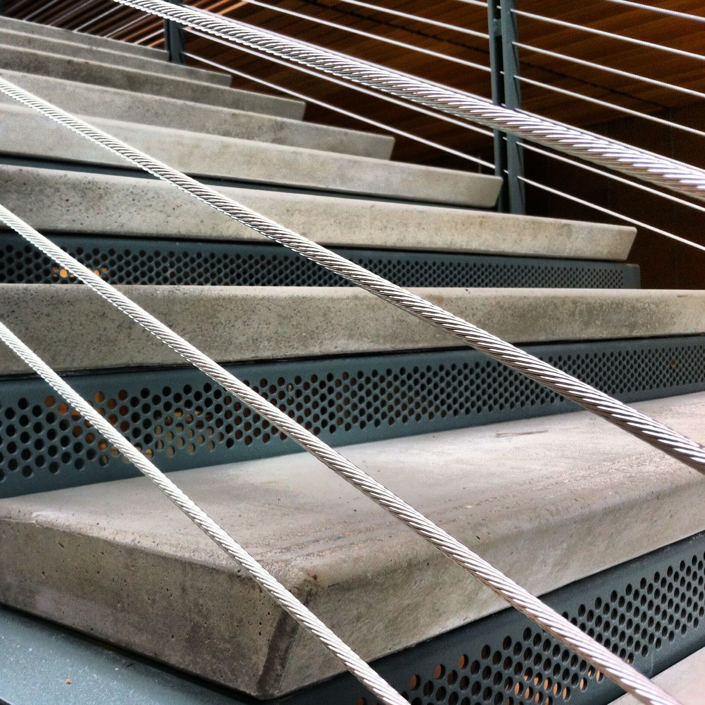 Precast Stair Treads W/ Sandblast Nosings Project: SCC  Wood Construction  Center Architect: