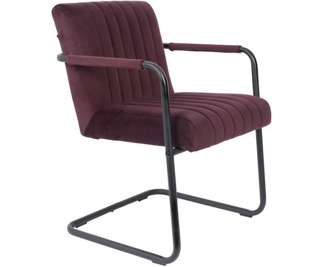 Samt Freischwinger Stuhl Stitched Mit Armlehne Cantilever Chair