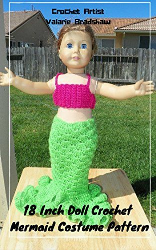 18 Inch Doll Crochet Mermaid Costume Pattern Worsted