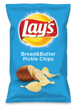 Wouldn't Bread&Butter Pickle Chips be yummy as a chip? Lay's Do Us A Flavor is back, and the search is on for the yummiest flavor idea. Create a flavor, choose a chip and you could win $1 million! https://www.dousaflavor.com See Rules.