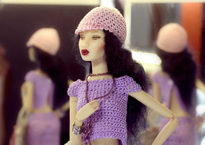 Fashion Doll Agency Doll: Lia Collection Croisière II wearing: Tango  hand made crochet www.fashiondollagency.com