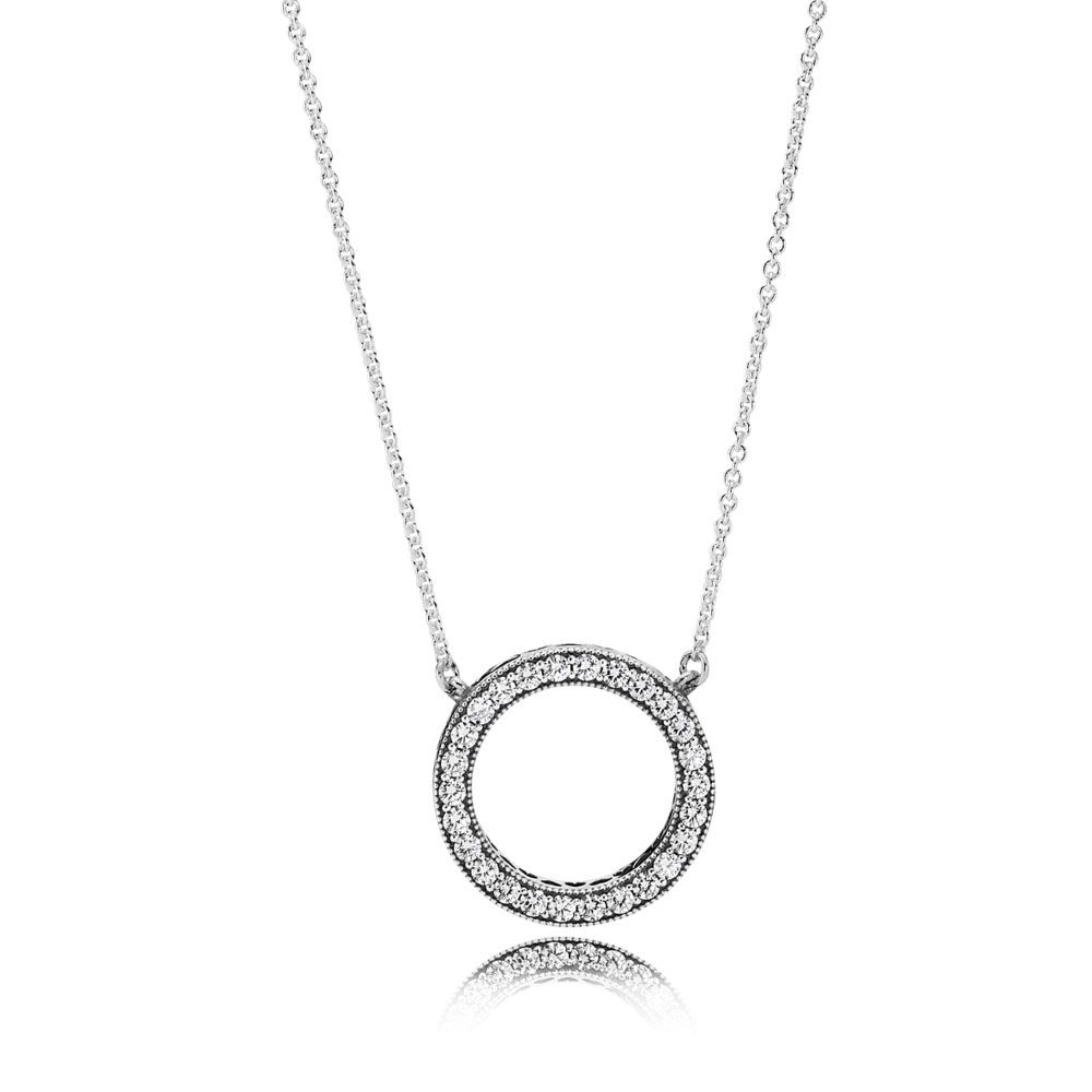 Pandora Women Silver Pendant Necklace - 590534CZ-45 fzSRzpESQr