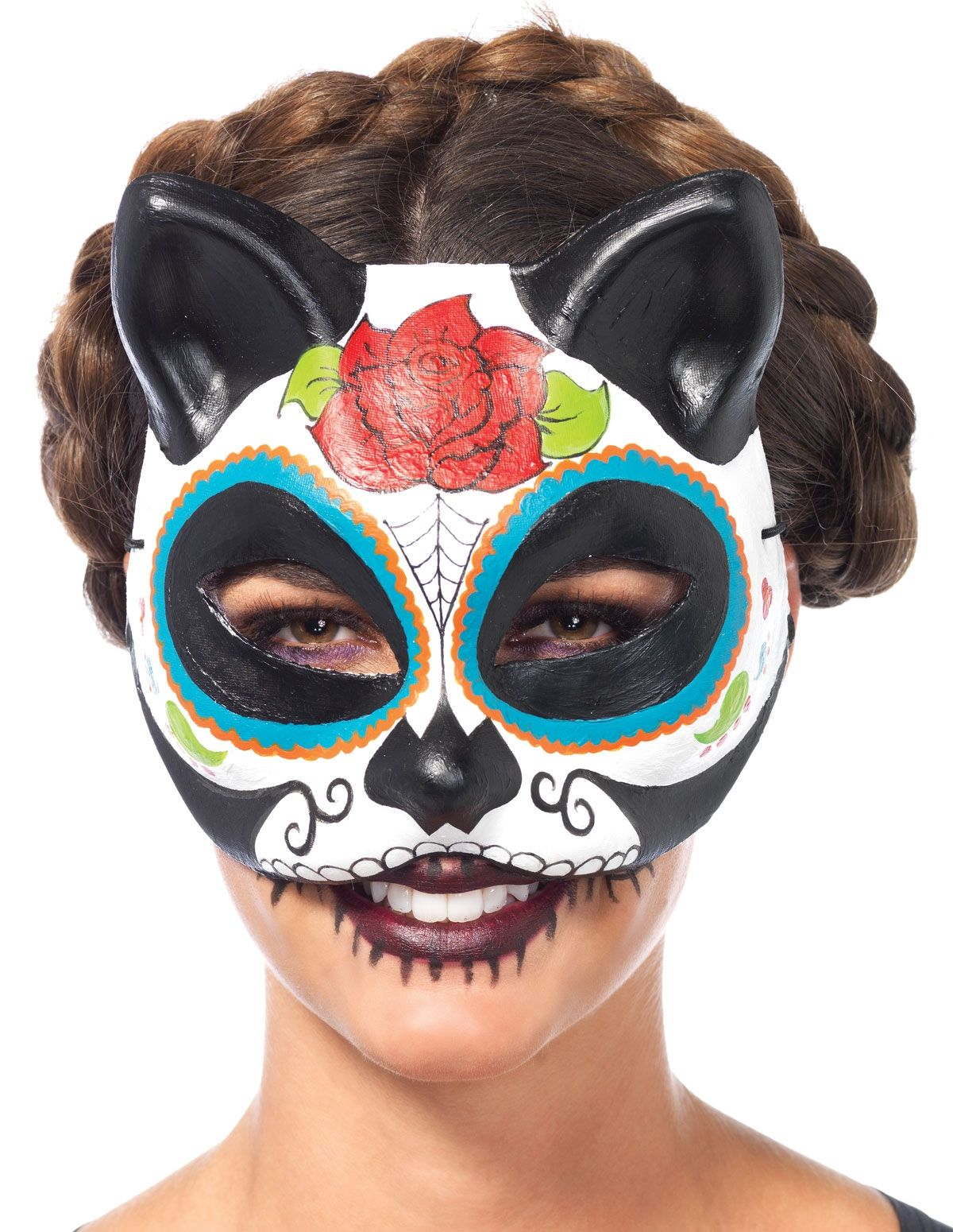 Chic DIY Jeweled Spider Mask For Halloween Party images