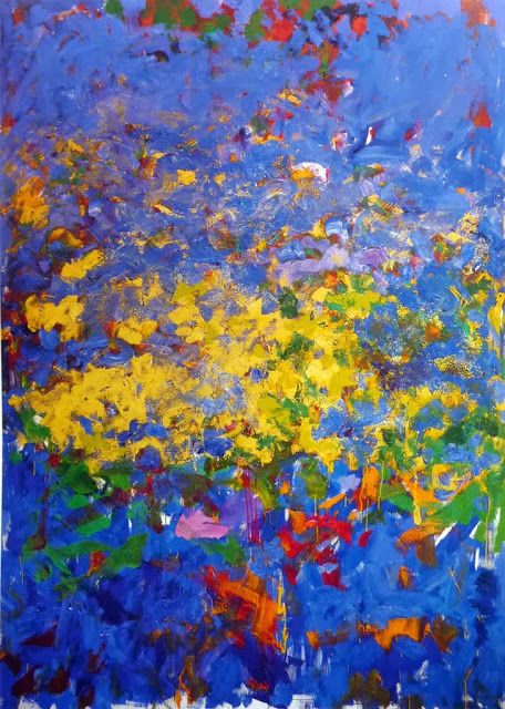 Joan Mitchell La Grande Vallee 1983 L Expressionnisme Abstrait Americain Est Le Premier Grand Mouvement Artistique Joan Mitchell Abstract Art Painting Art