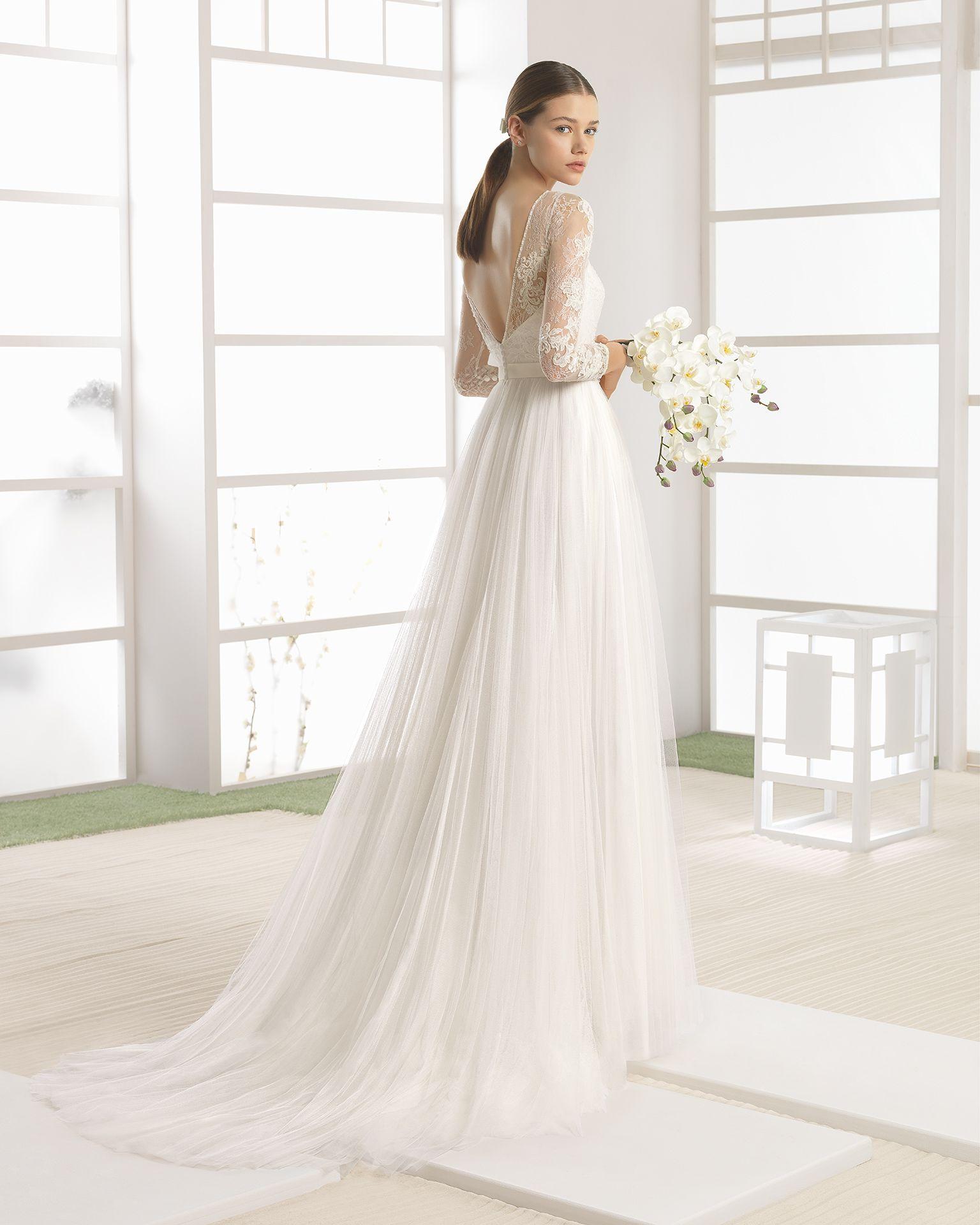 Vestido novia nude
