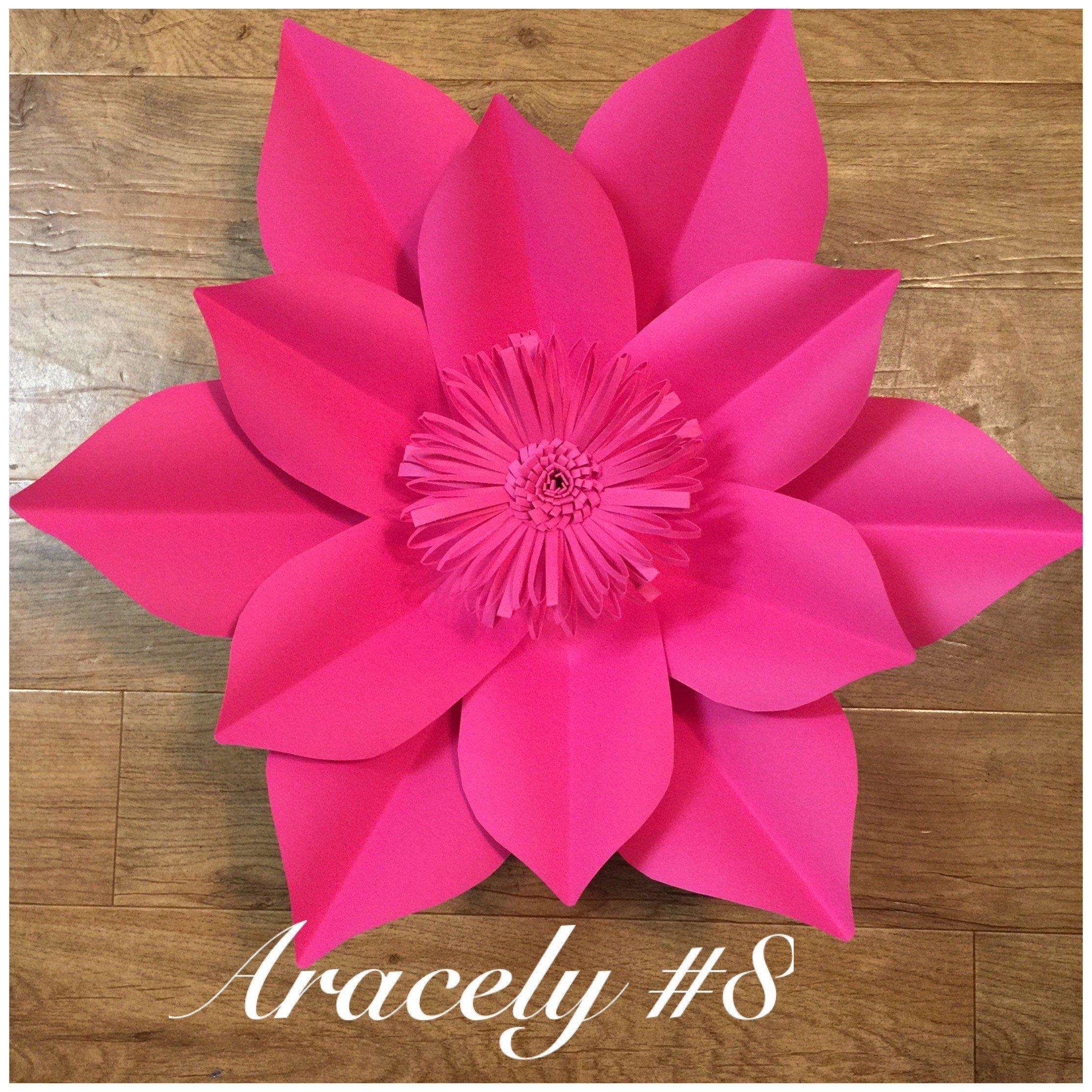 Paper flower template #8 | Pinterest | Flores de papel, Flores y ...