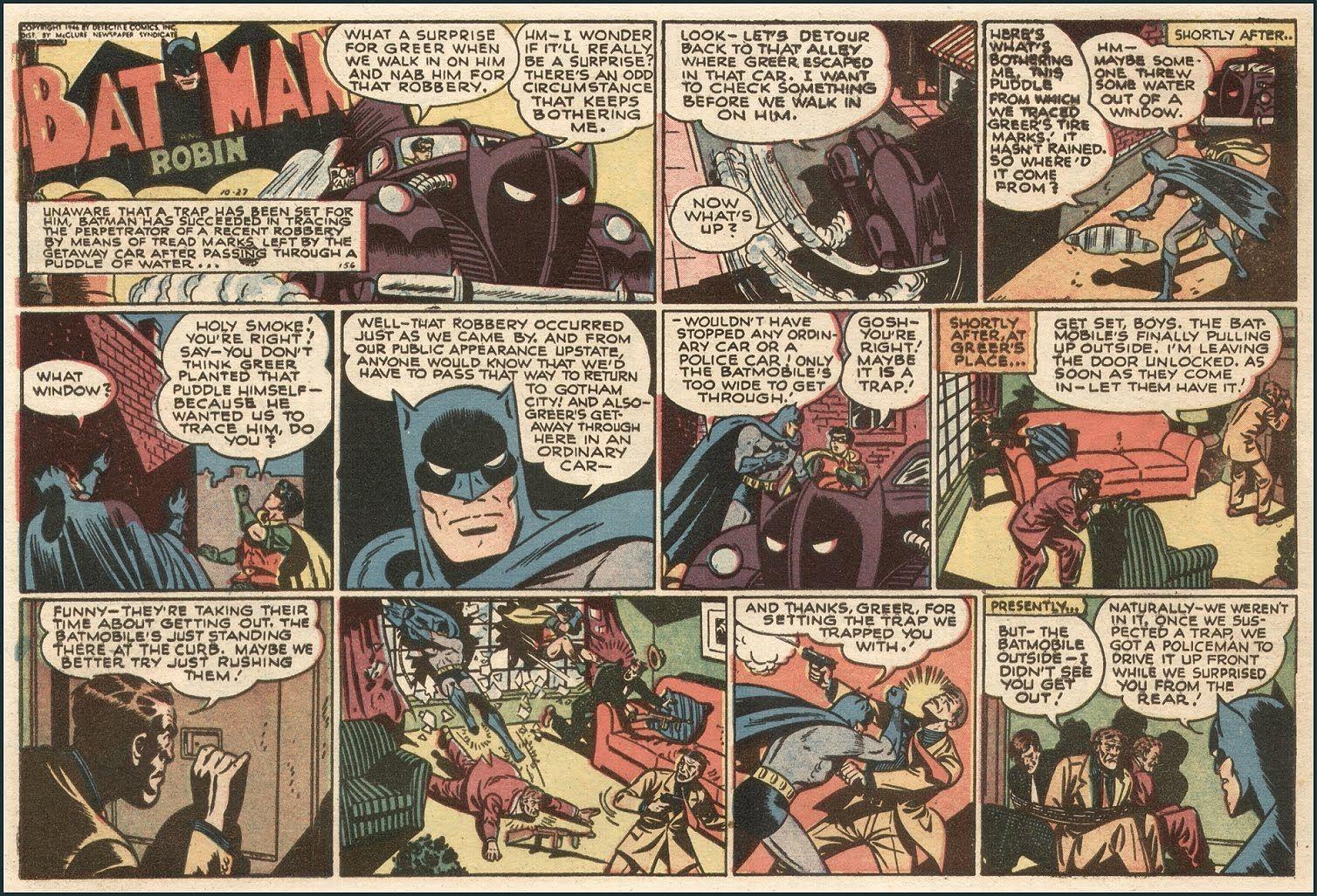 Batman comic strip