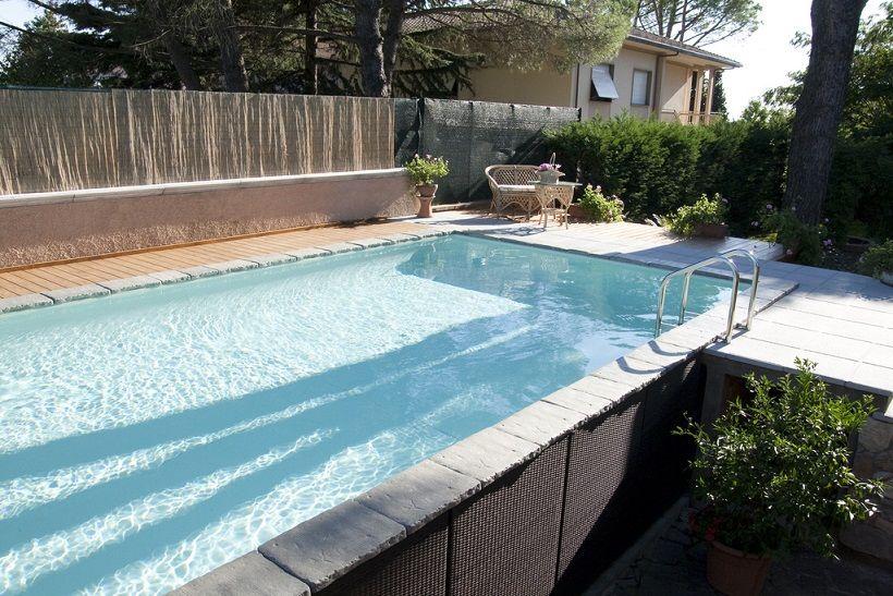 Aufstellpool mit au enverkleidung da jardinero pools for Garten pool wanne