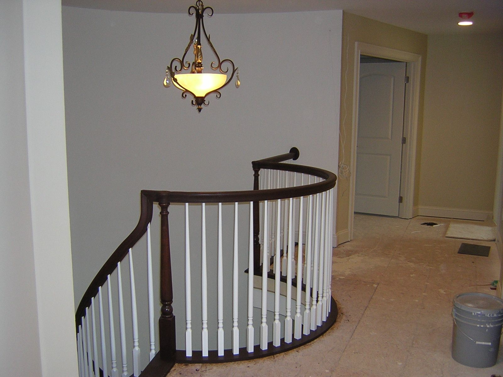 Best Painted Railings Spindles Curved Stair With Traditional 400 x 300