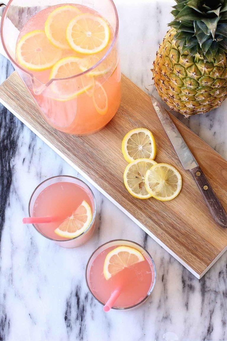 Pink Pineapple Lemonade Recipe | Best Friends For Frosting #pinklemonade