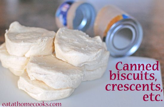 Big list of recipes (46 to be exact) for canned biscuits, crescents etc..... I'll be glad I pinned this one night!