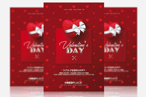 Valentine\u0027s Day - Psd Invitation Creative Flyers, Psd Templates