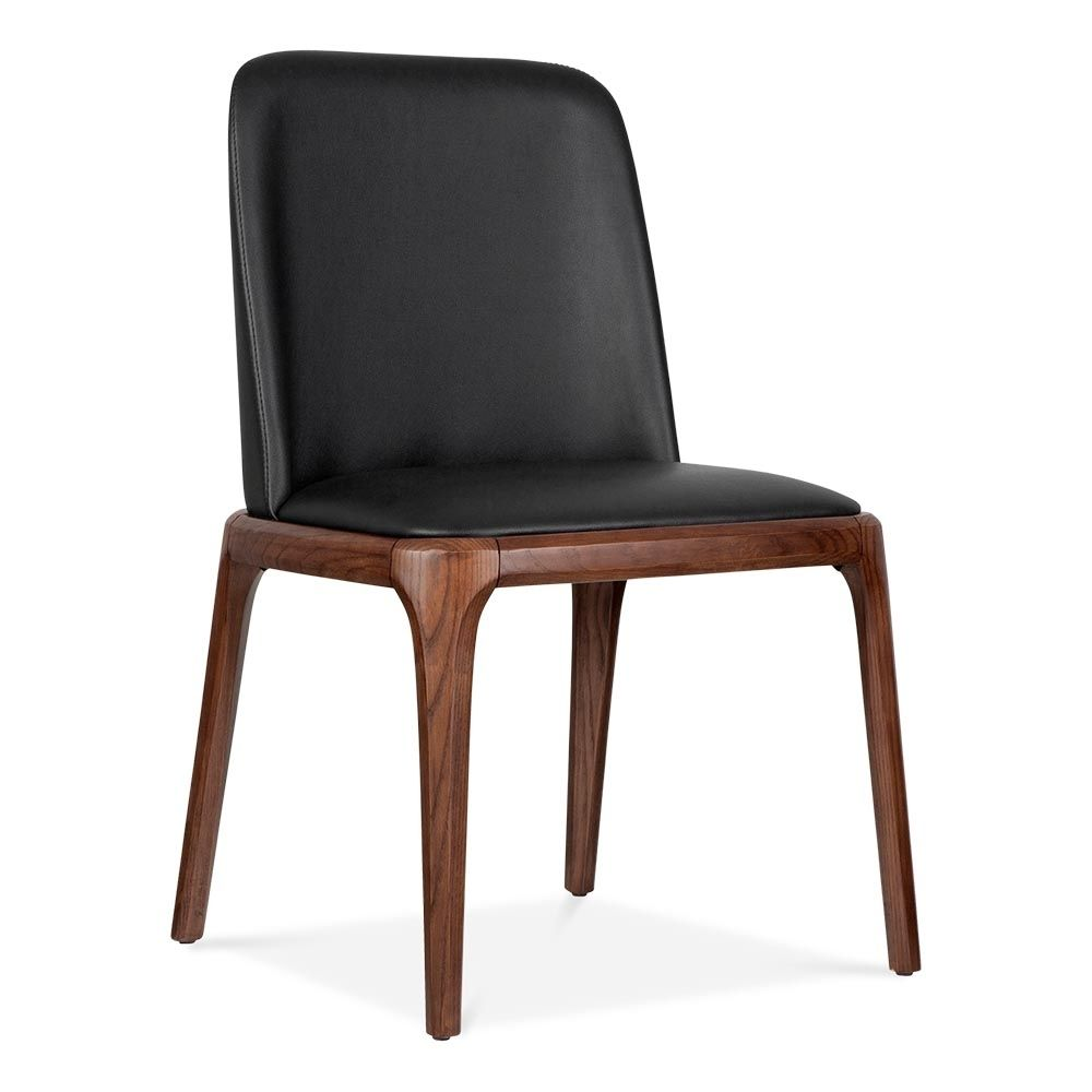 Cult Living Scarlet Dining Chair With PU Leather Seat - Black | 200 ...