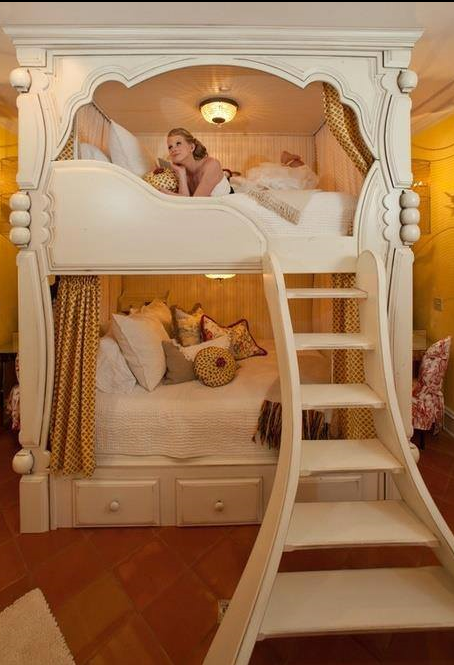 Fancy Bunk Bed From Iryna With Images Diy Bunk Bed