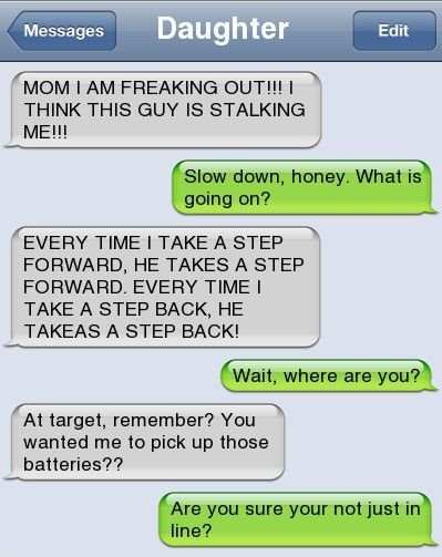 Epic text – Mom I am freaking out