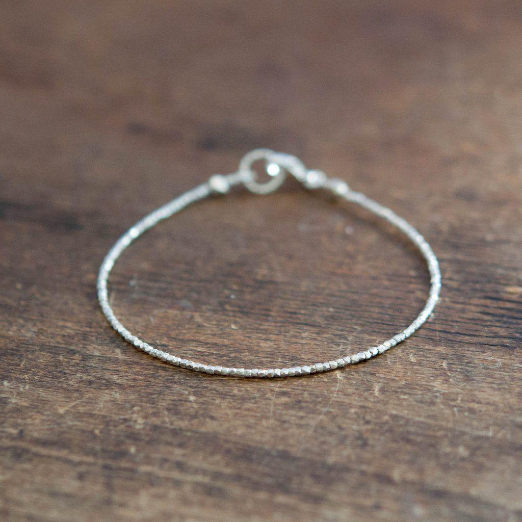 Essential bracelet in pure silver by vivien frank designs